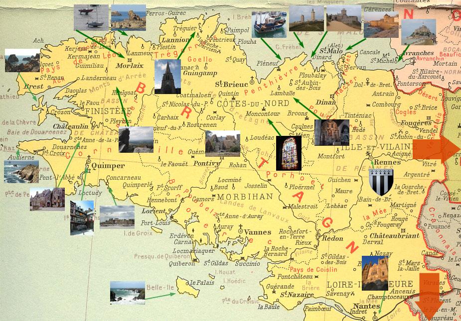 bretagne sites touristiques - Photo