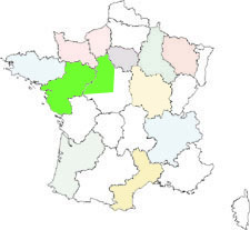 interactive map of france : loire valley