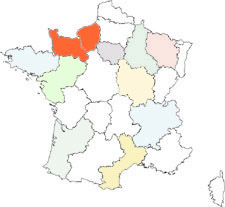 interactive map of france : normandy