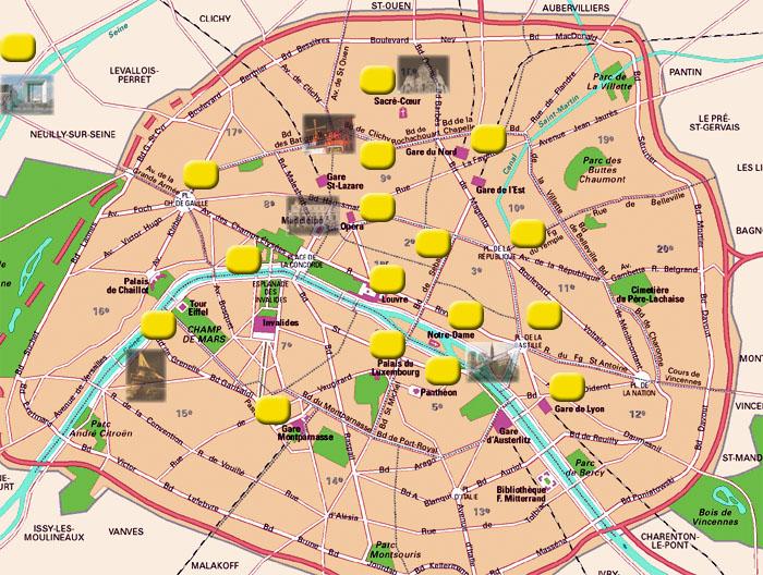 Hotels in paris for Paris hotel map