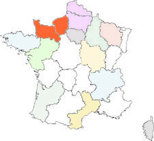 carte normandie région