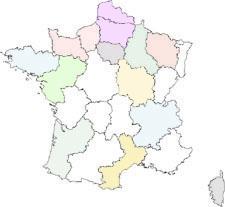 Mappa Della Francia Interattiva