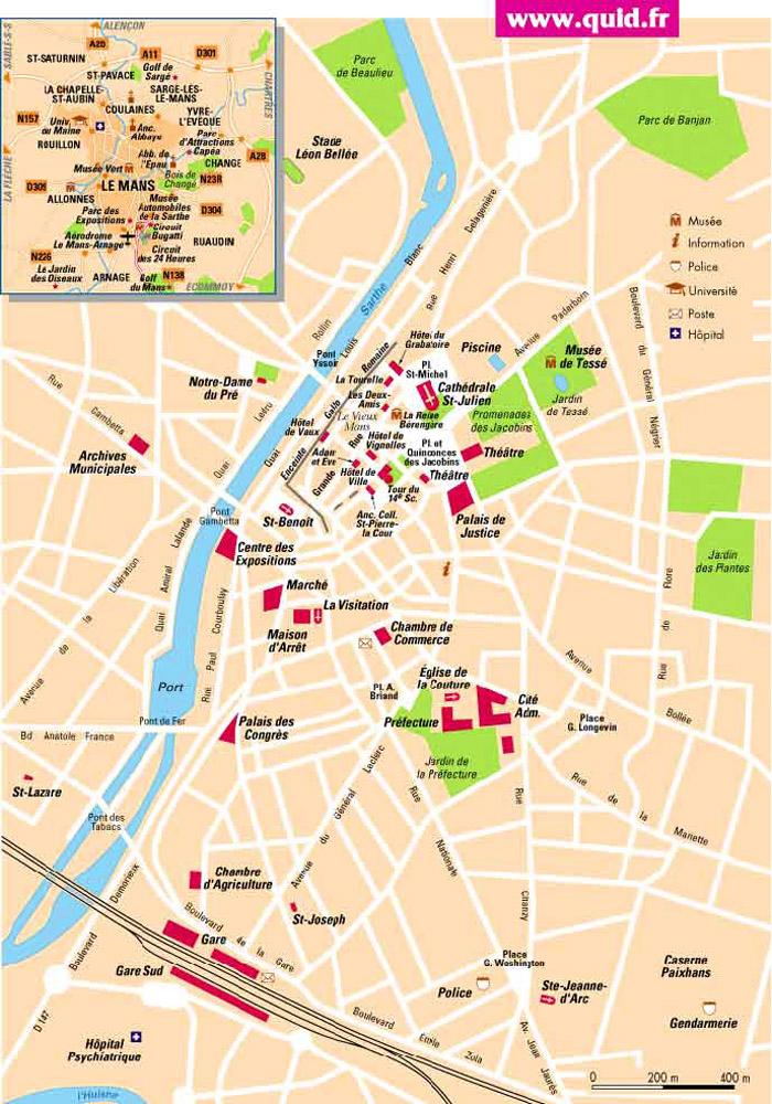 Ville Nimes Plan
