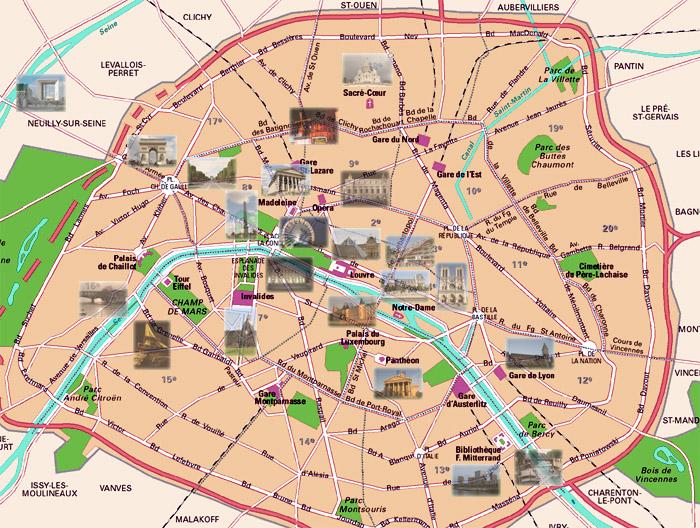 Cartina Di Parigi E Dintorni.Parigi