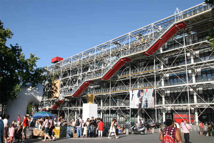 Centro Pompidou A Beaubourg In Parigi