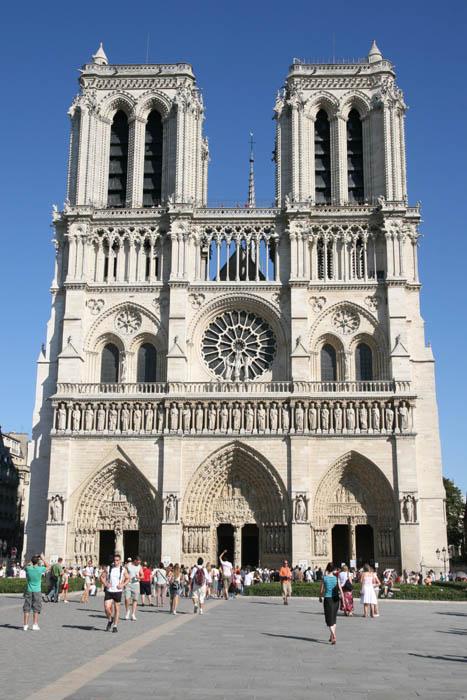 facade notre Dame Paris