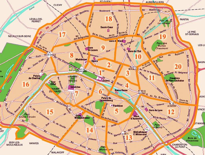 Parigi Cartina Quartieri.Quartieri Di Parigi
