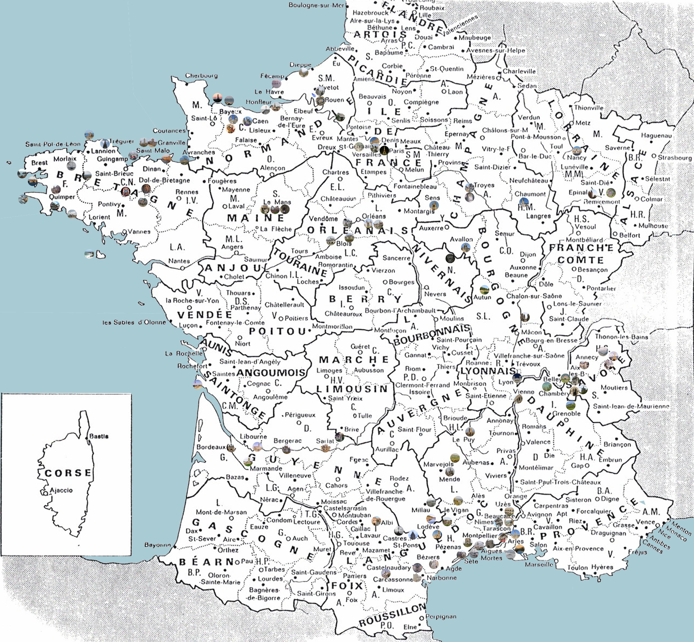 Regioni Della Francia Cartina.Mappa Della Francia
